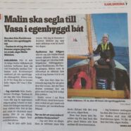 Byggde båt för att segla till Vasa i Finland